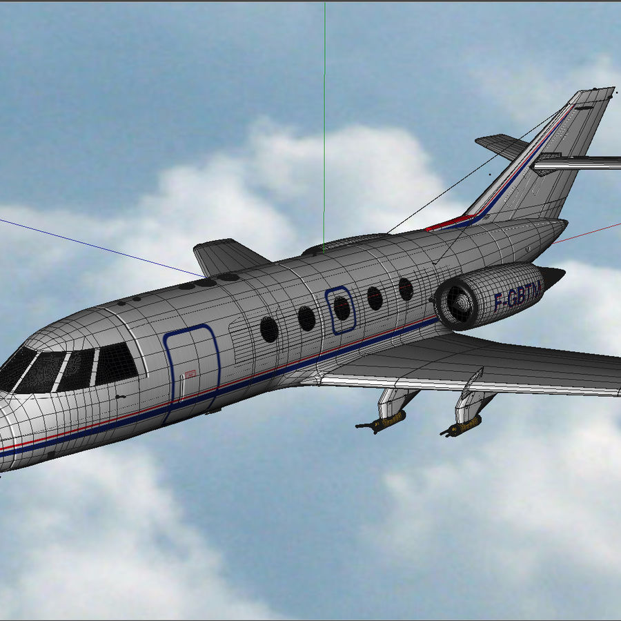 Falcon 20 de Meteo FR royalty-free 3d model - Preview no. 6