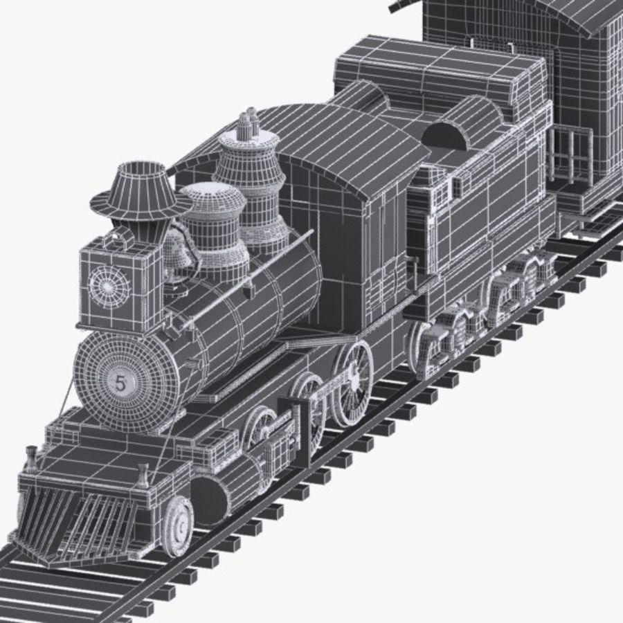 Treno dei cartoni animati royalty-free 3d model - Preview no. 12