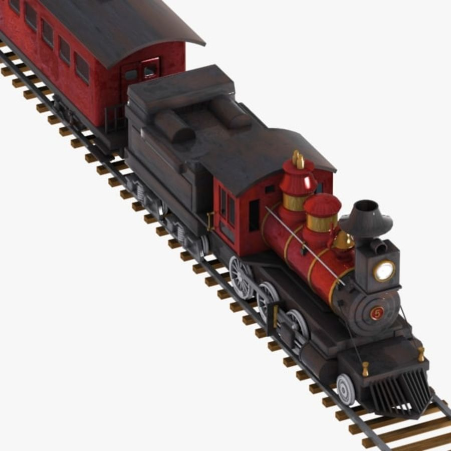 Cartoon Train royalty-free 3d model - Preview no. 5