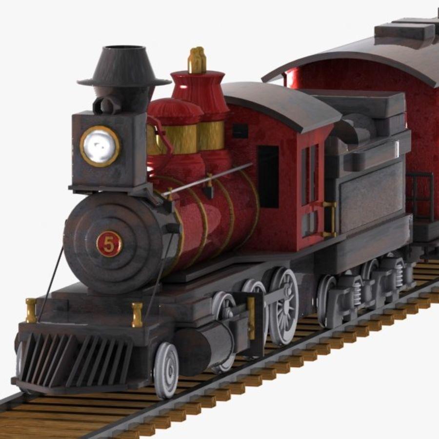 Treno dei cartoni animati royalty-free 3d model - Preview no. 3