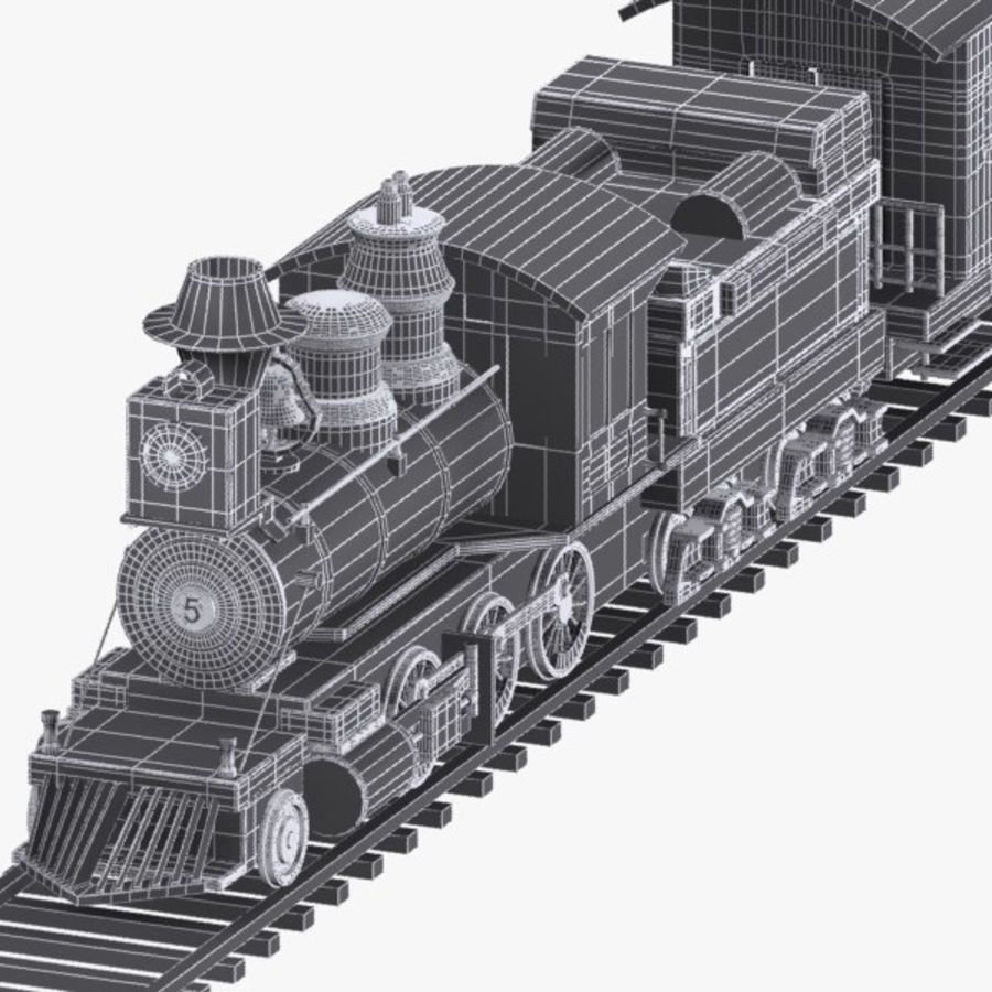 Cartoon Train royalty-free 3d model - Preview no. 12