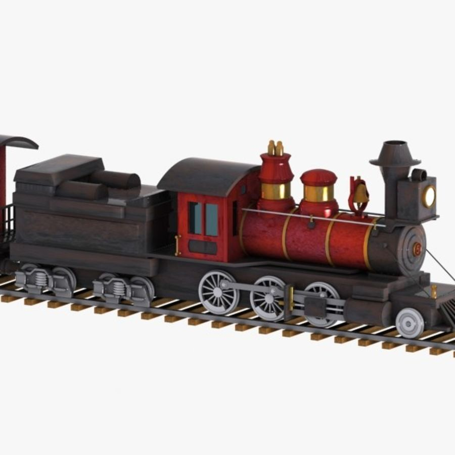 Cartoon Train royalty-free 3d model - Preview no. 10