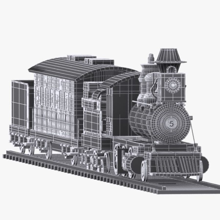 Cartoon Train royalty-free 3d model - Preview no. 13