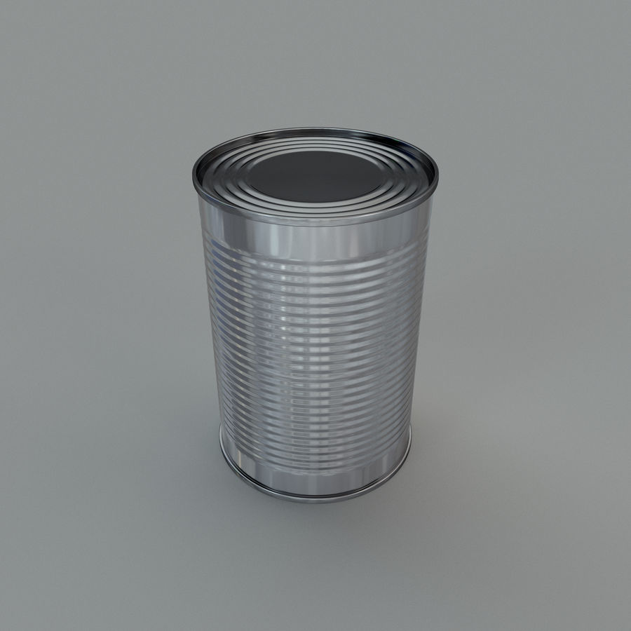 Tin can royalty-free 3d model - Preview no. 4
