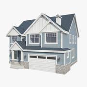 American_house_03 3d model