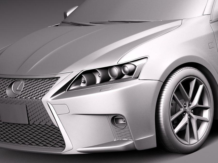 レクサスCT 200時間2014 royalty-free 3d model - Preview no. 10