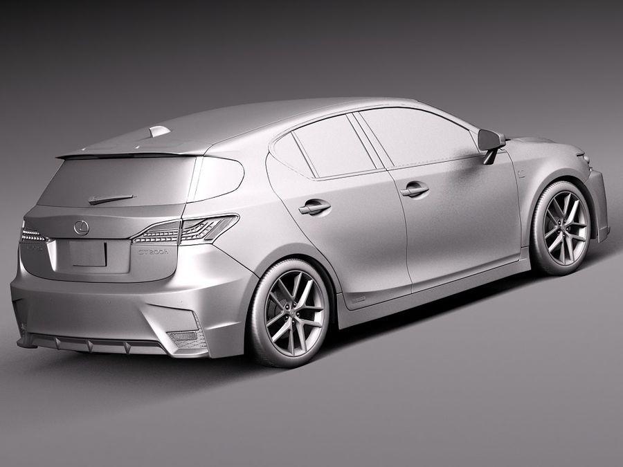 レクサスCT 200時間2014 royalty-free 3d model - Preview no. 12