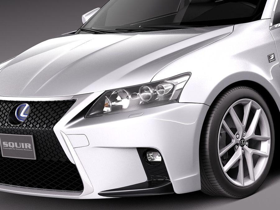 レクサスCT 200時間2014 royalty-free 3d model - Preview no. 3