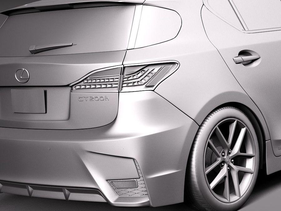 レクサスCT 200時間2014 royalty-free 3d model - Preview no. 11