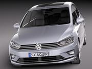 Volkswagen Golf Sportsvan 2015 3d model