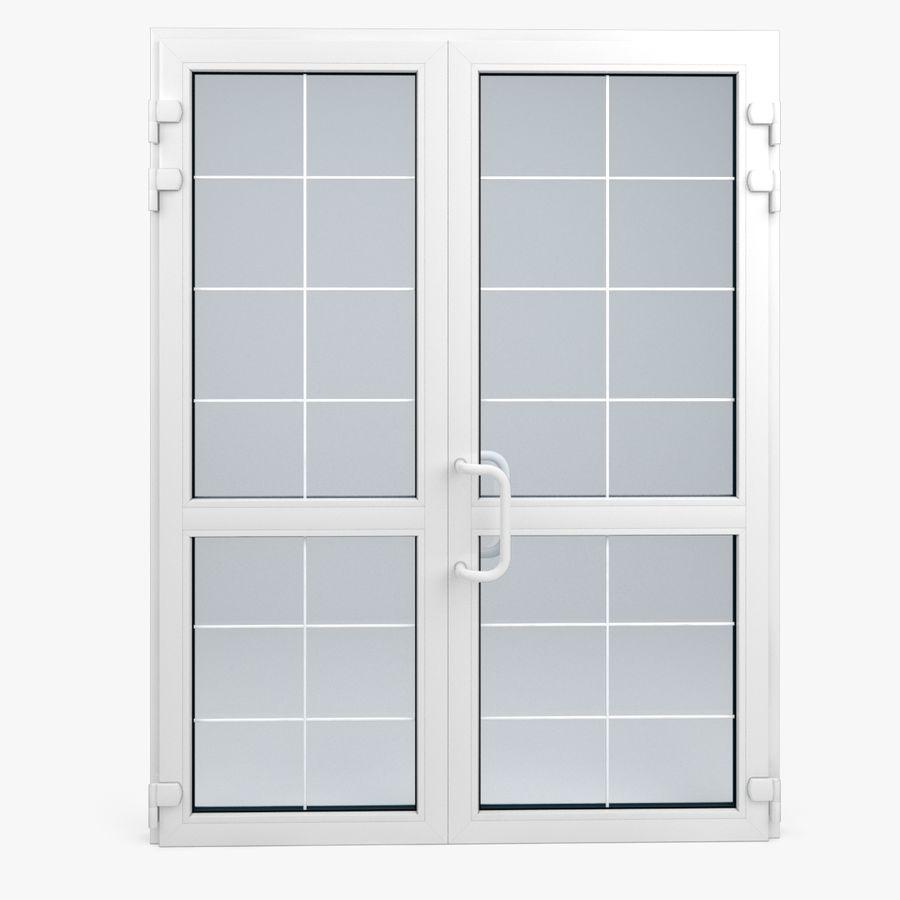 Современная дверь ПВХ 2 royalty-free 3d model - Preview no. 2