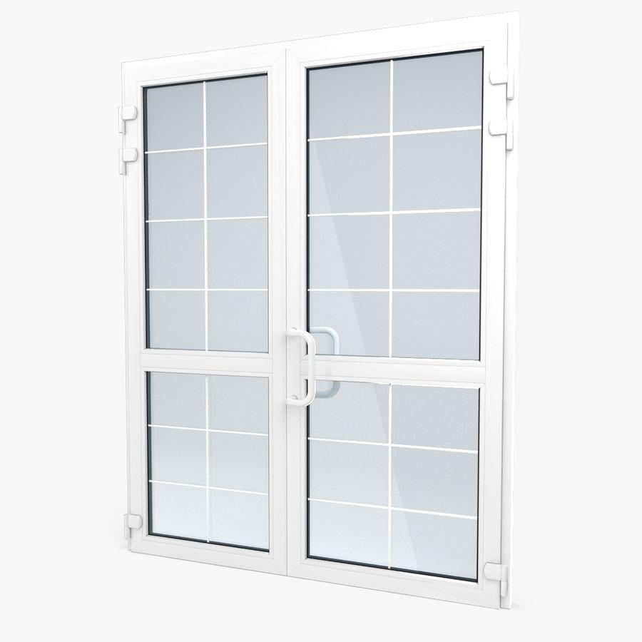 Современная дверь ПВХ 2 royalty-free 3d model - Preview no. 1