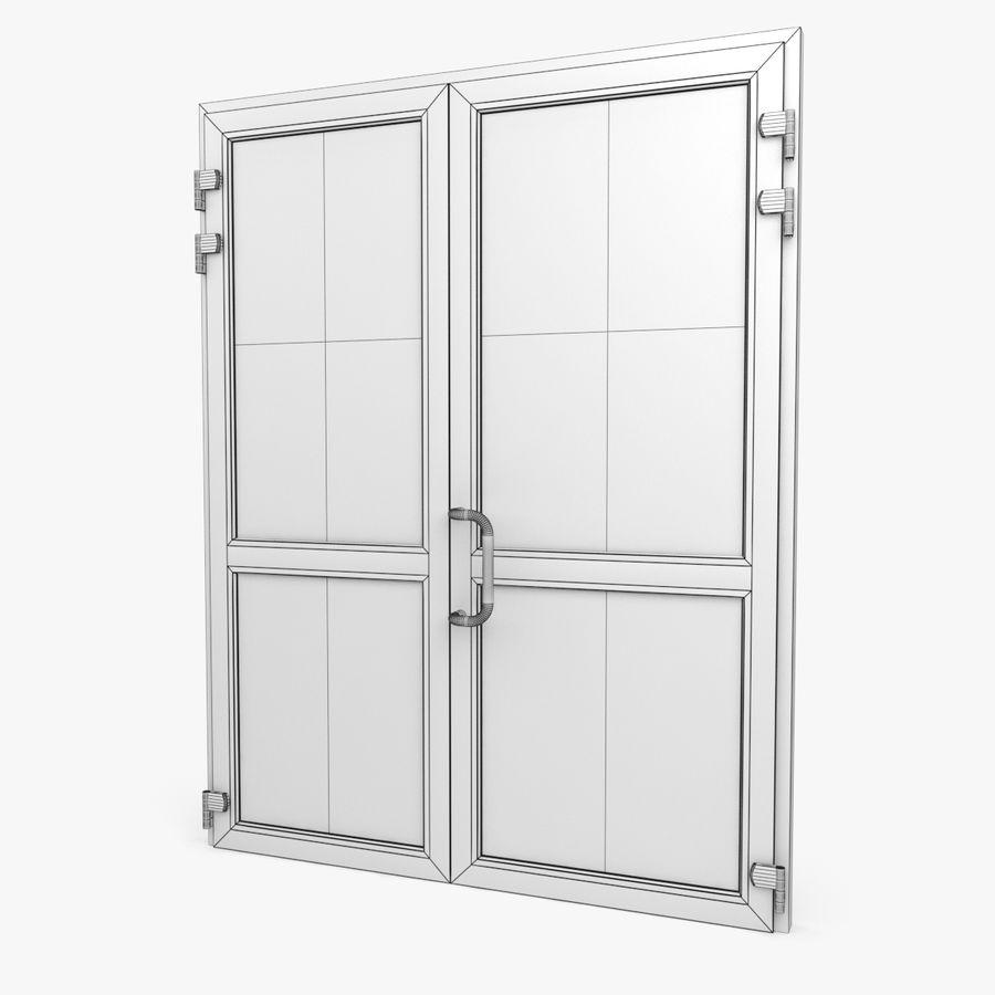 Современная дверь ПВХ 2 royalty-free 3d model - Preview no. 5