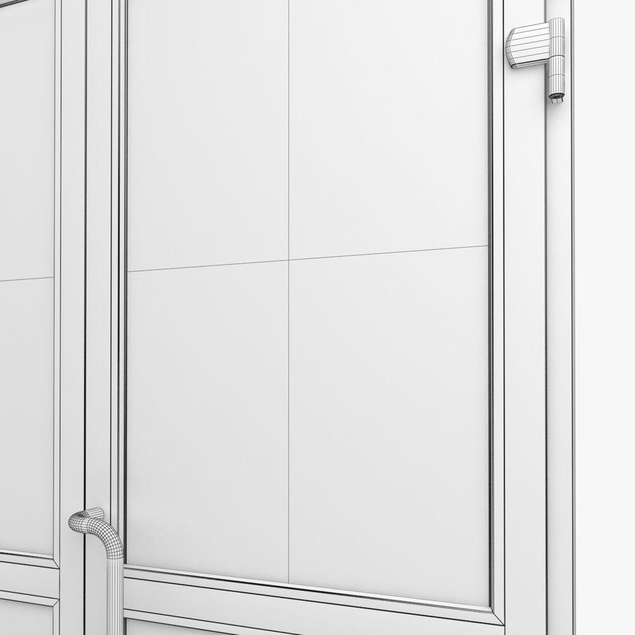 Современная дверь ПВХ 2 royalty-free 3d model - Preview no. 6
