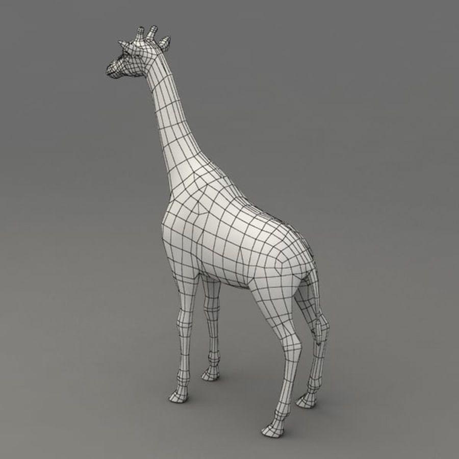 Giraffa armata royalty-free 3d model - Preview no. 10