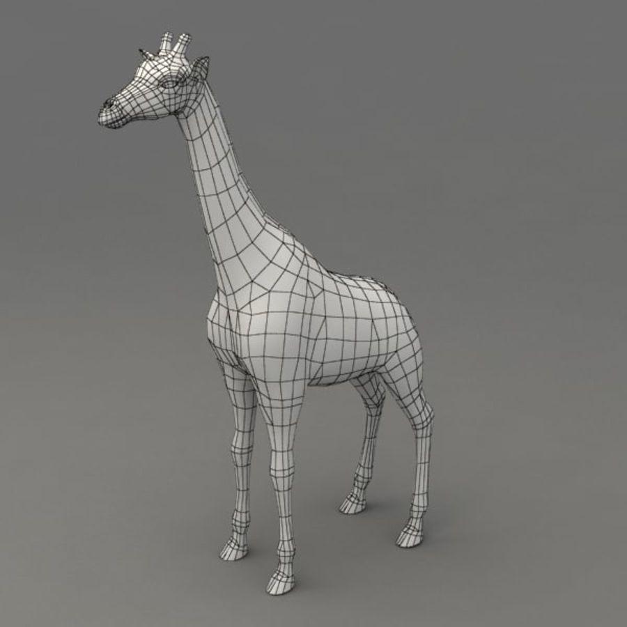 Giraffa armata royalty-free 3d model - Preview no. 9