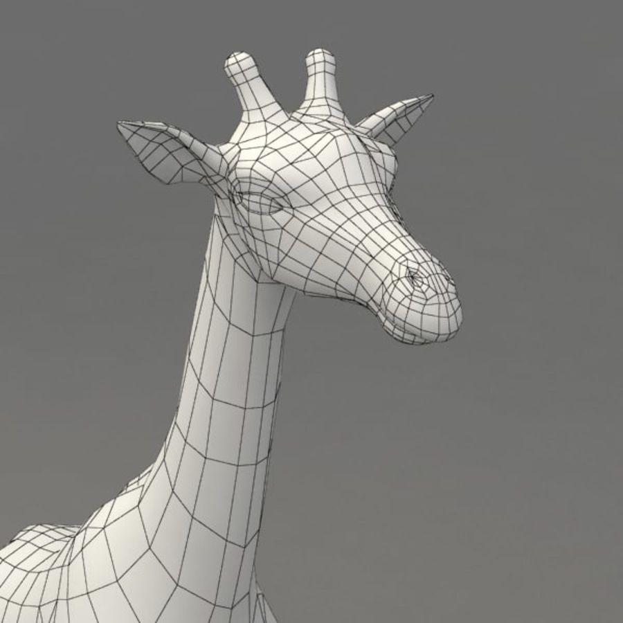 Giraffa armata royalty-free 3d model - Preview no. 11