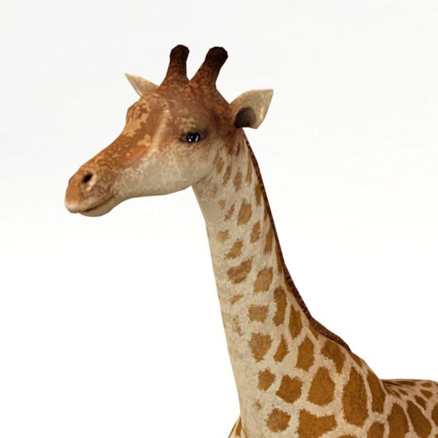 Giraffa armata royalty-free 3d model - Preview no. 6