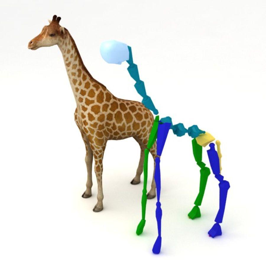 Giraffa armata royalty-free 3d model - Preview no. 8