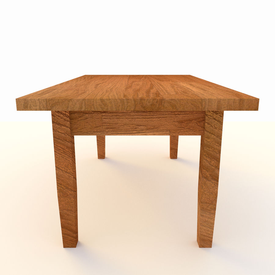 Wooden Table Low Poly royalty-free 3d model - Preview no. 3