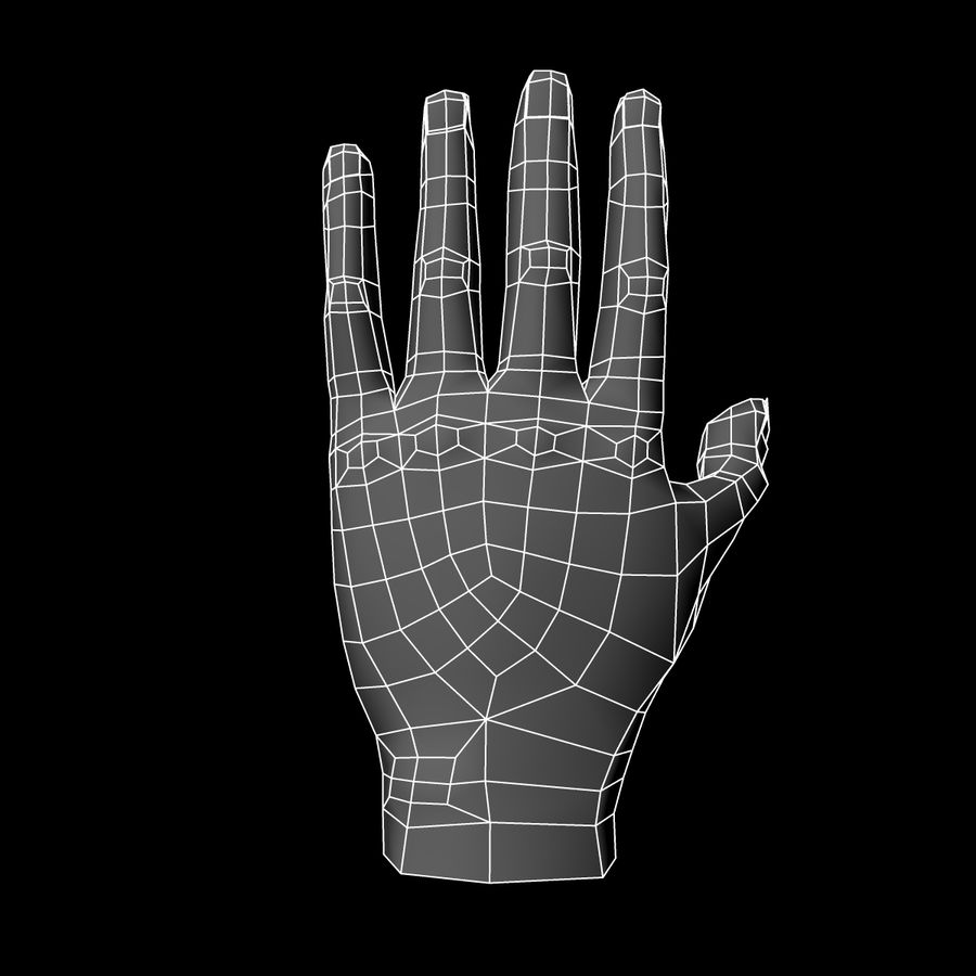 Hand Base UV Unwrapped royalty-free 3d model - Preview no. 15