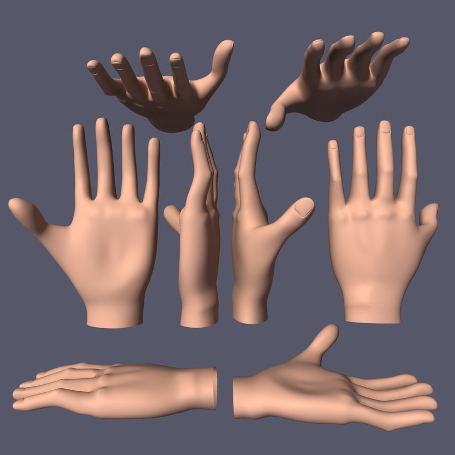 Hand Base UV Unwrapped royalty-free 3d model - Preview no. 6