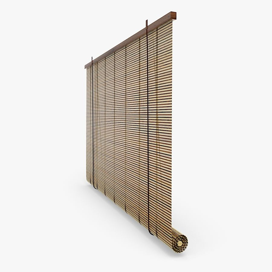 Bamboo Blinds royalty-free 3d model - Preview no. 4