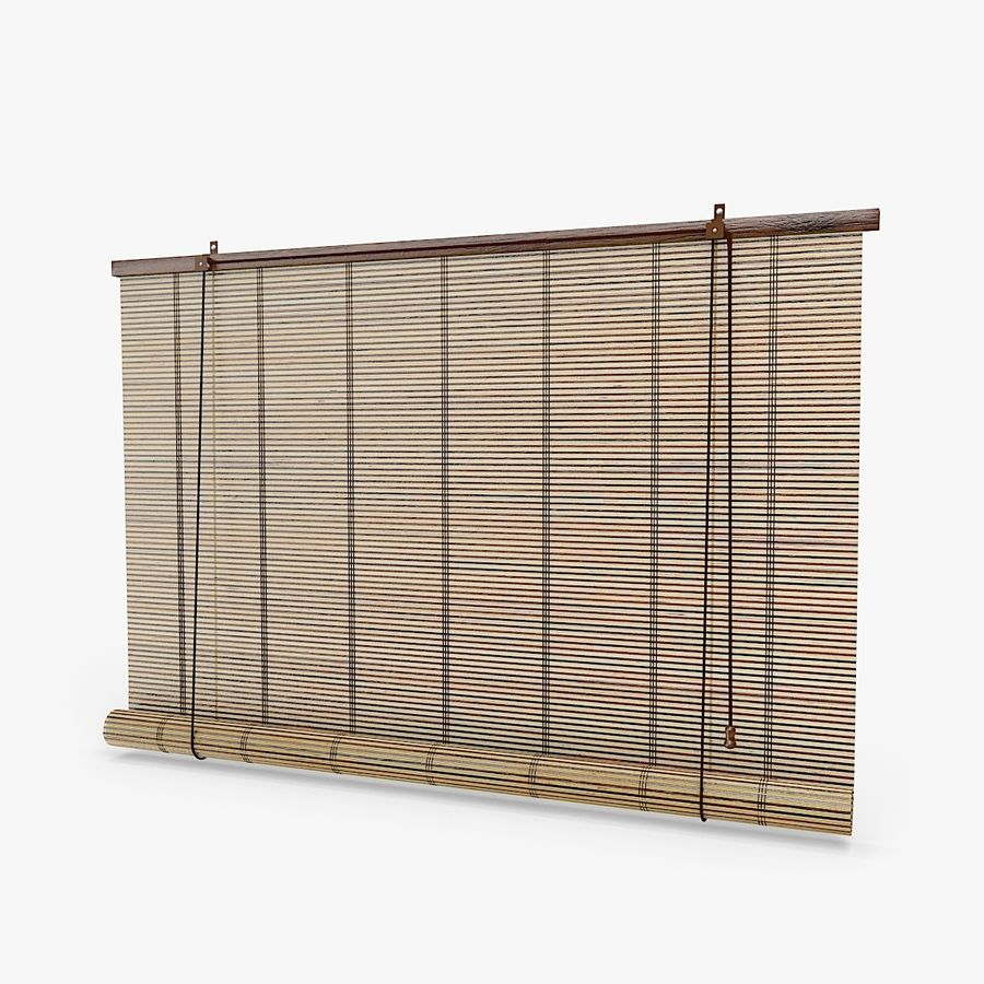Bamboo Blinds royalty-free 3d model - Preview no. 1