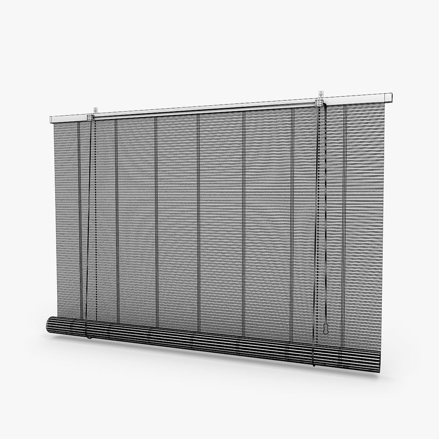 Bamboo Blinds royalty-free 3d model - Preview no. 5