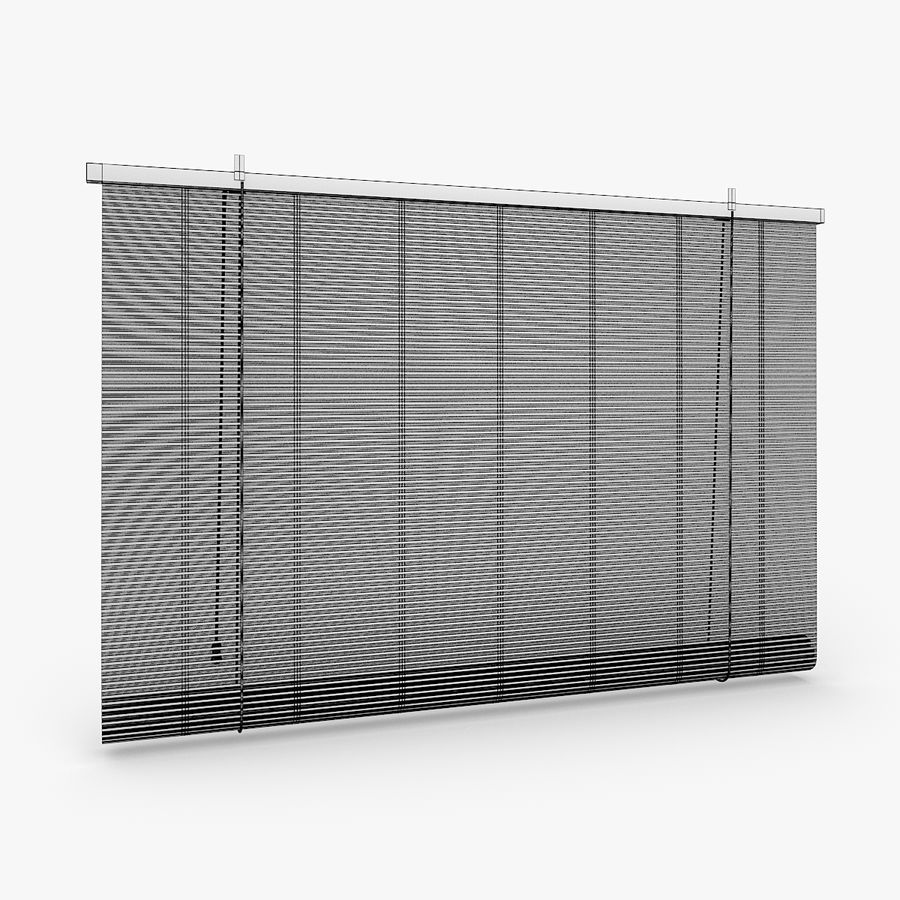 Bamboo Blinds royalty-free 3d model - Preview no. 7