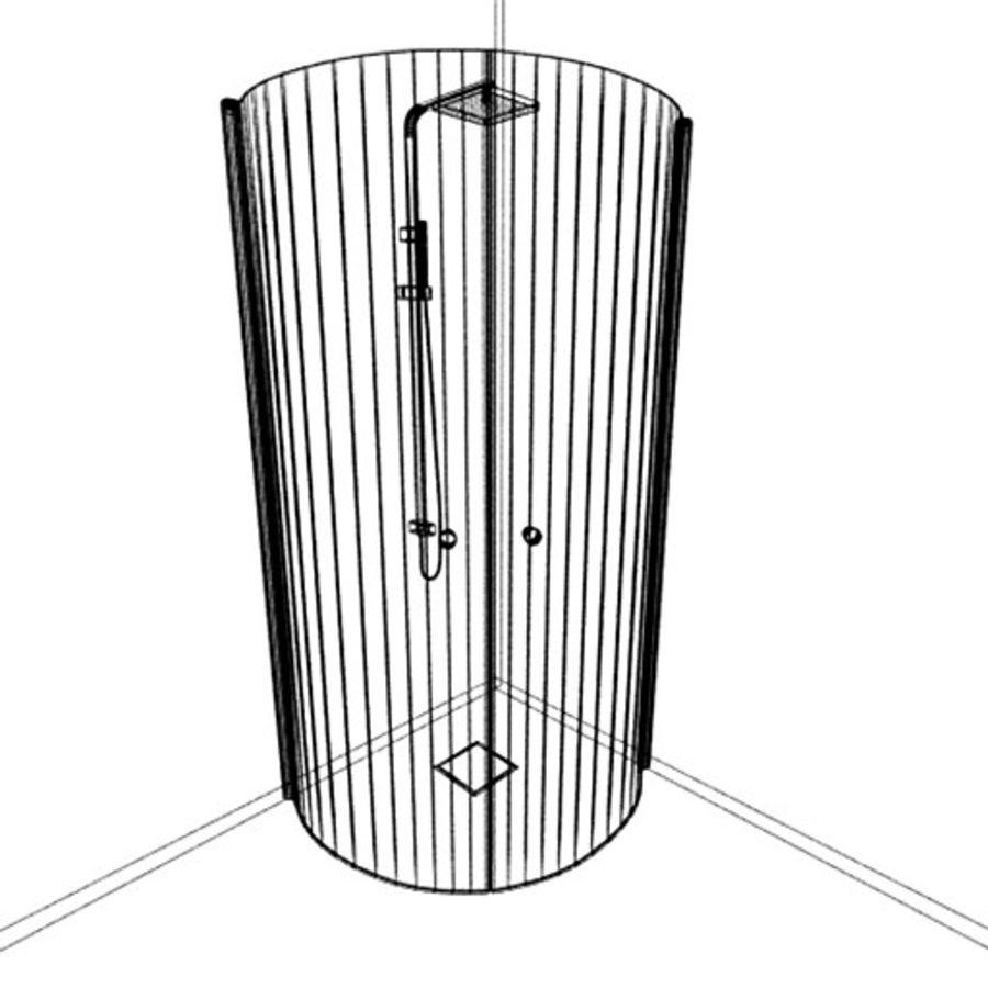 Prysznic Architech royalty-free 3d model - Preview no. 6