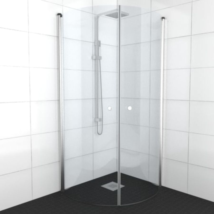 Architech Shower royalty-free 3d model - Preview no. 1
