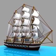 Cartoon Sailing Ship 3d model
