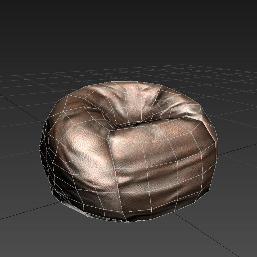 Bean Bag Chair royalty-free 3d model - Preview no. 3