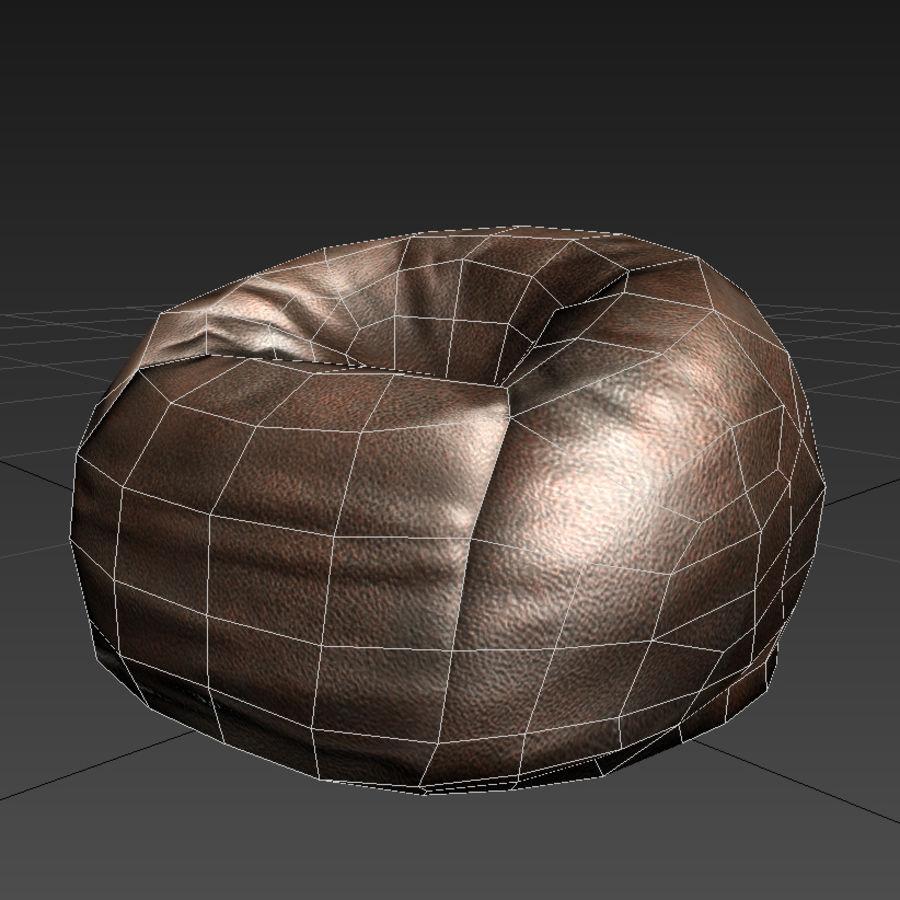 Bean Bag Chair royalty-free 3d model - Preview no. 8