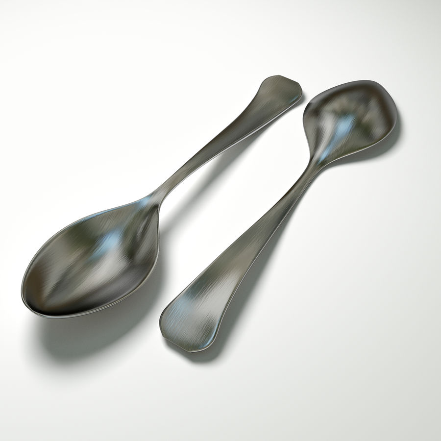 Spoon royalty-free 3d model - Preview no. 1
