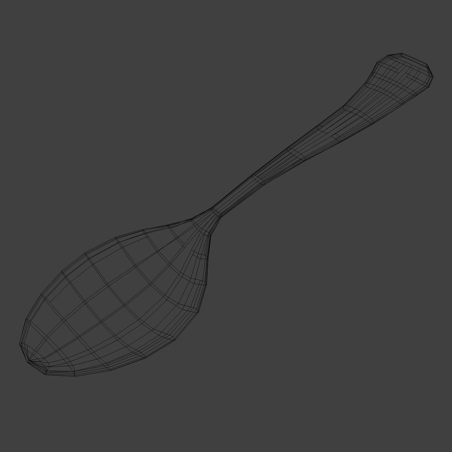 Spoon royalty-free 3d model - Preview no. 7