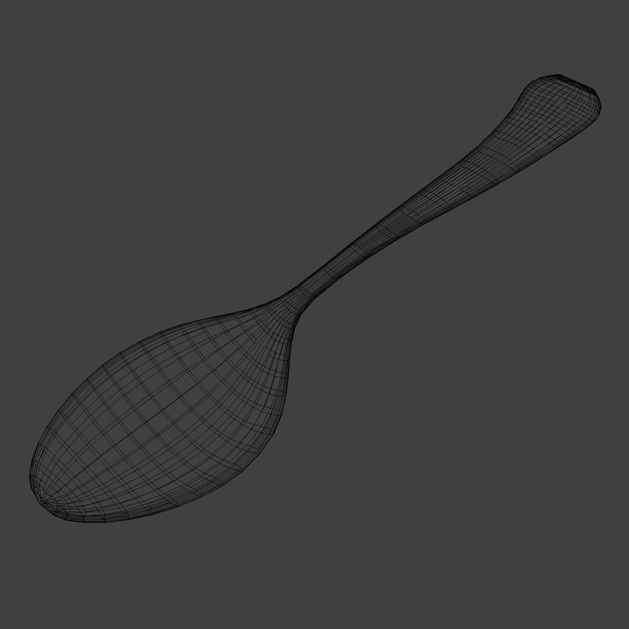Spoon royalty-free 3d model - Preview no. 8