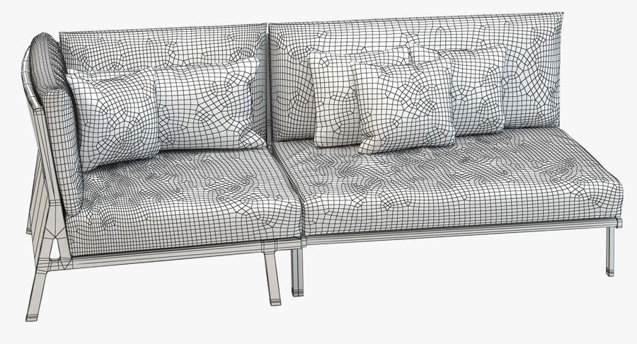 Sofa Modeling In 3ds Max Free Download  kettal vieques corner and central sofa 3d model 19 obj