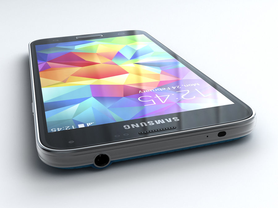 Samsung GALAXY S5 royalty-free 3d model - Preview no. 6