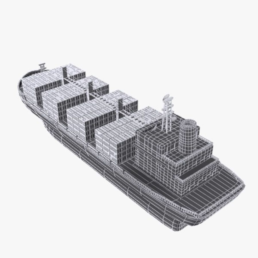 Cartoon Cargo Ship royalty-free 3d model - Preview no. 13