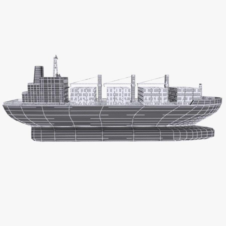 Cartoon Cargo Ship royalty-free 3d model - Preview no. 11