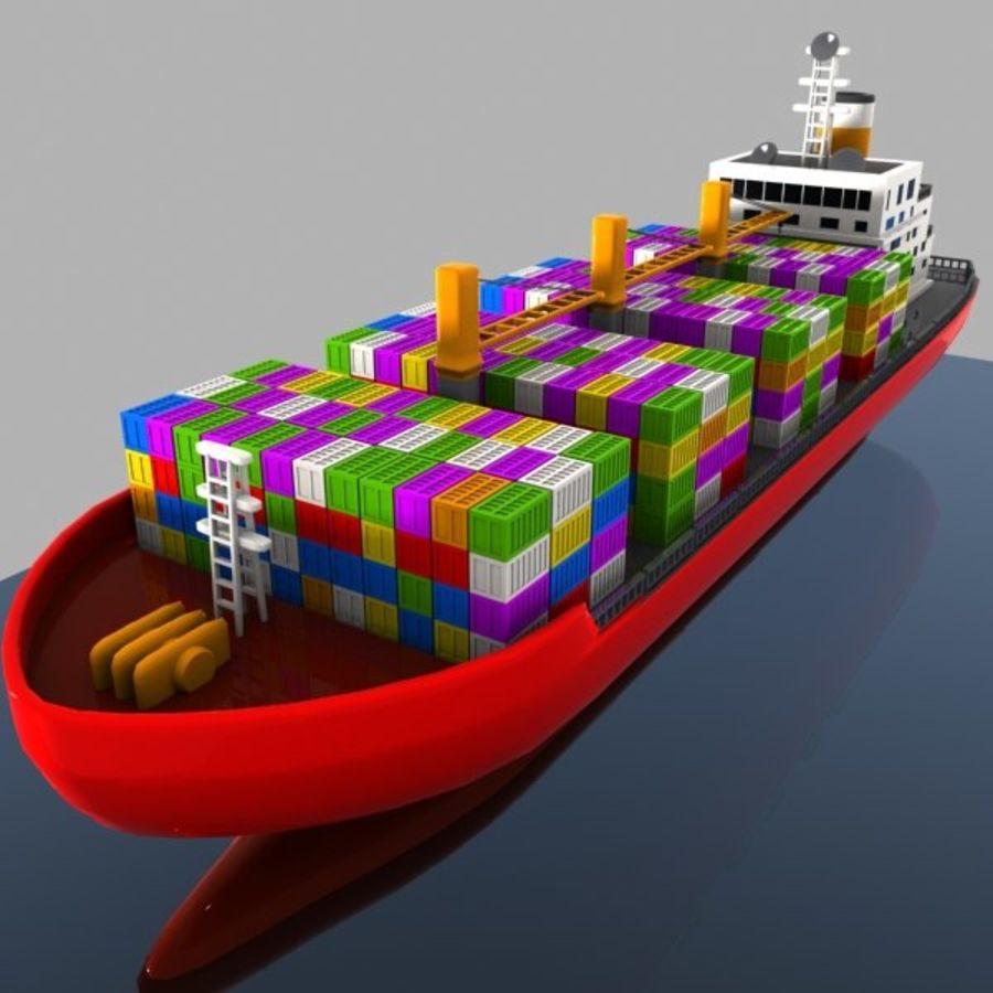 Cartoon Cargo Ship royalty-free 3d model - Preview no. 2