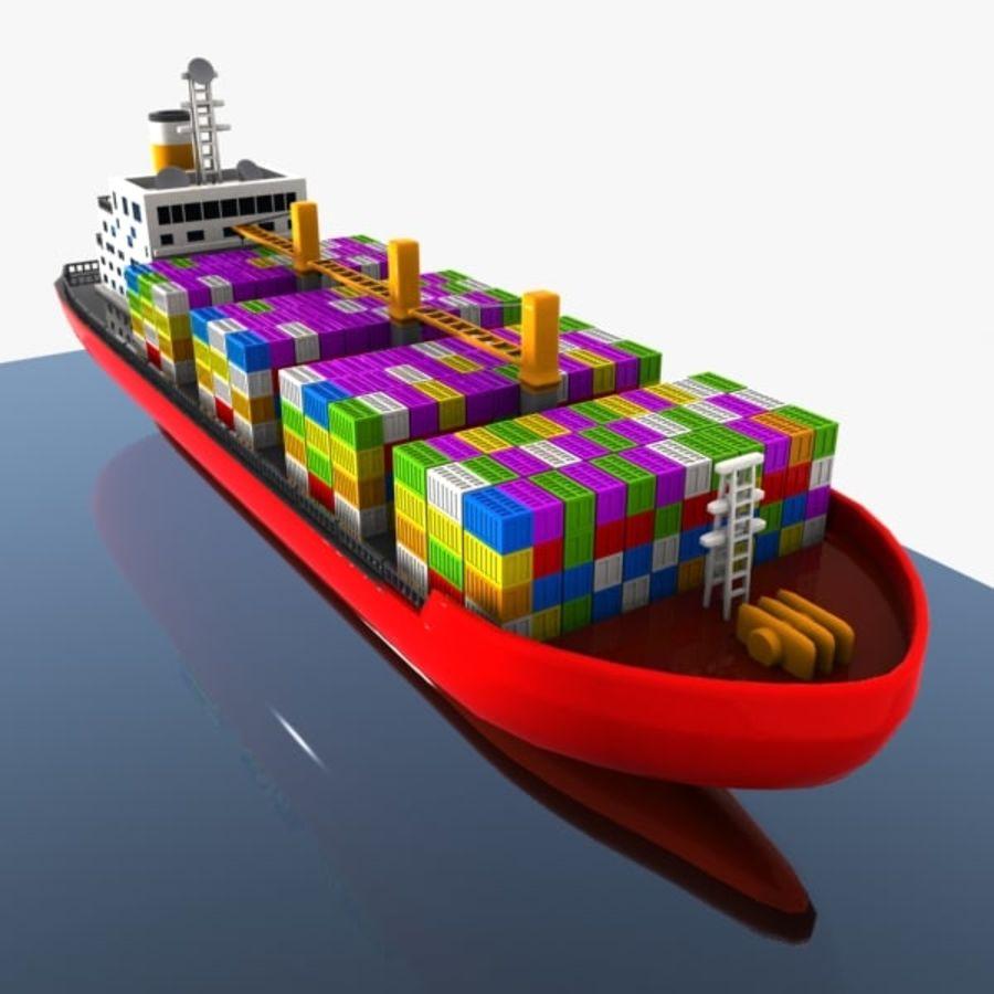 Cartoon Cargo Ship royalty-free 3d model - Preview no. 3