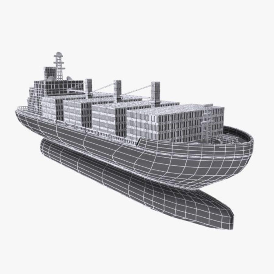 Cartoon Cargo Ship royalty-free 3d model - Preview no. 10