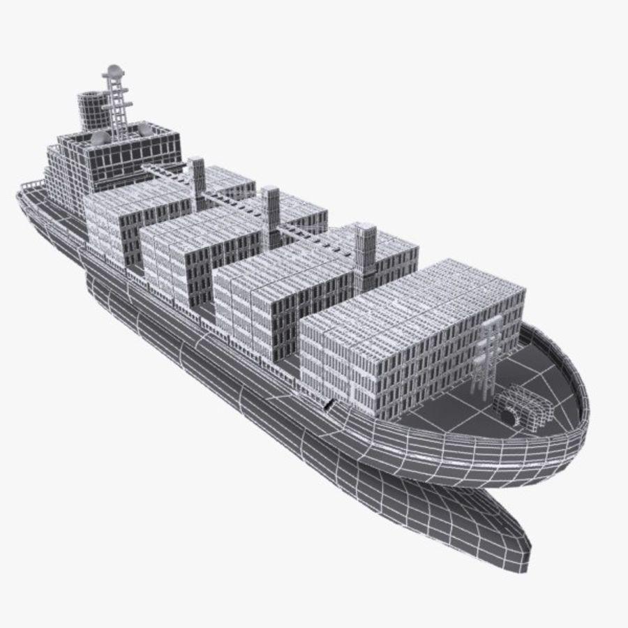 Cartoon Cargo Ship royalty-free 3d model - Preview no. 9
