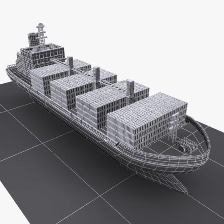 Cartoon Cargo Ship royalty-free 3d model - Preview no. 8