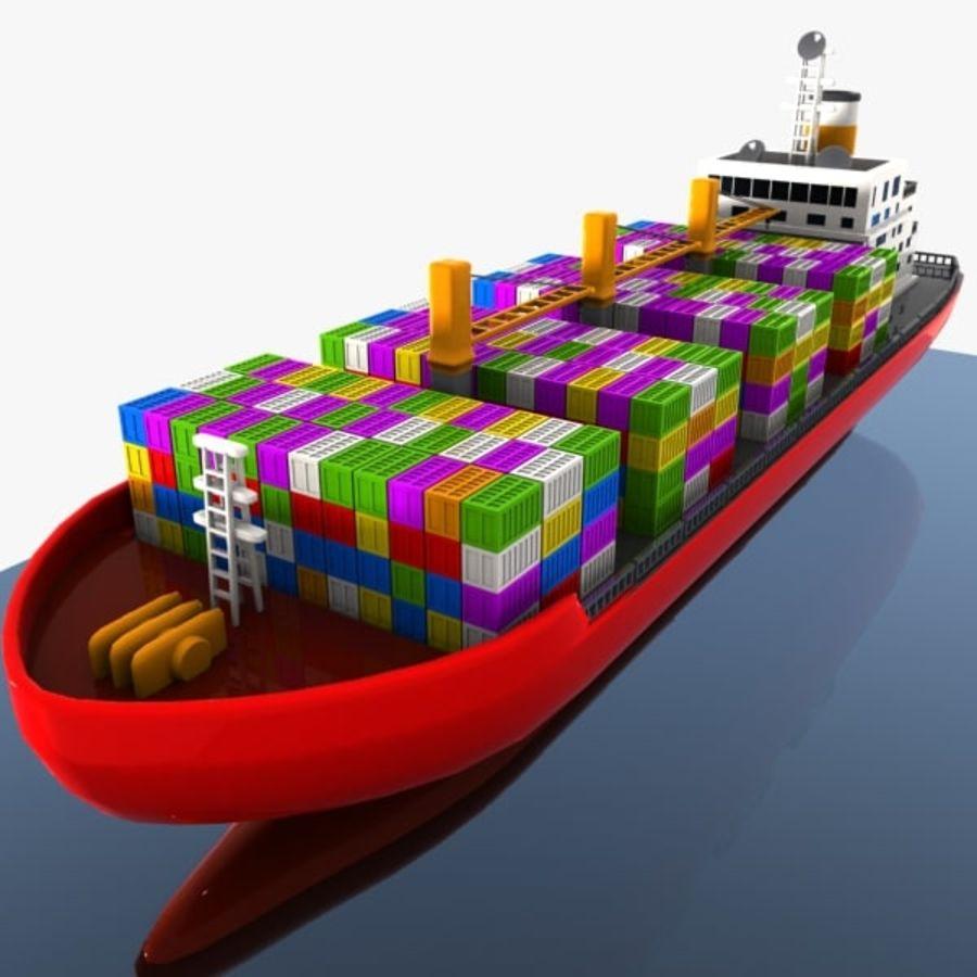 Cartoon Cargo Ship royalty-free 3d model - Preview no. 1