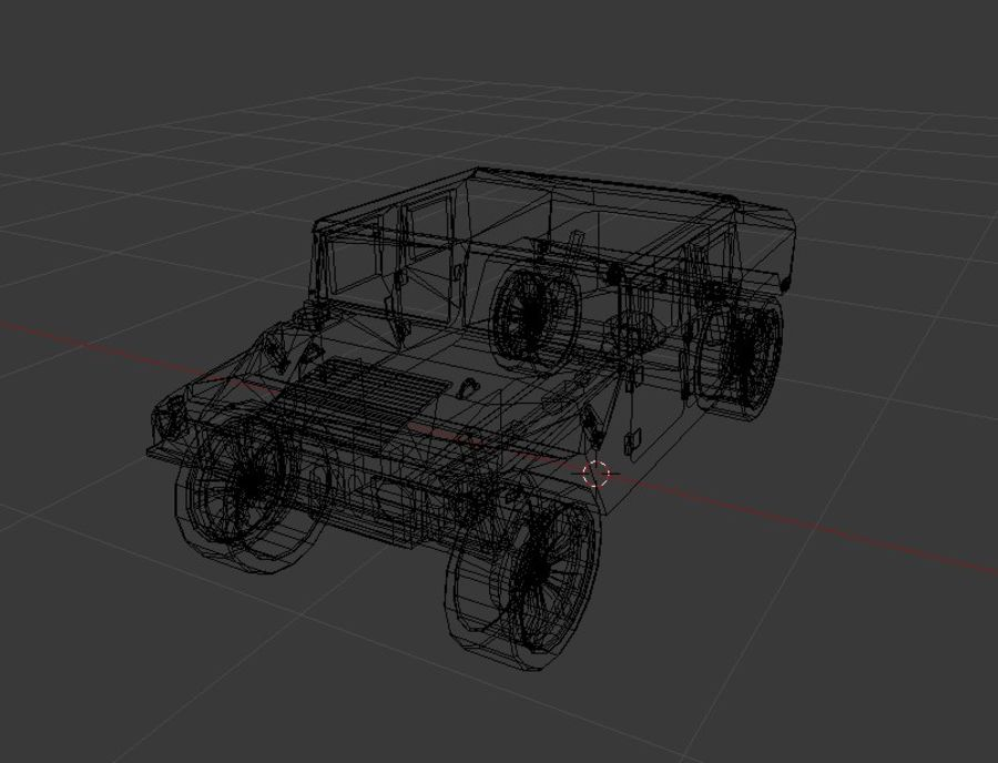 Humvee (Textured) royalty-free 3d model - Preview no. 4