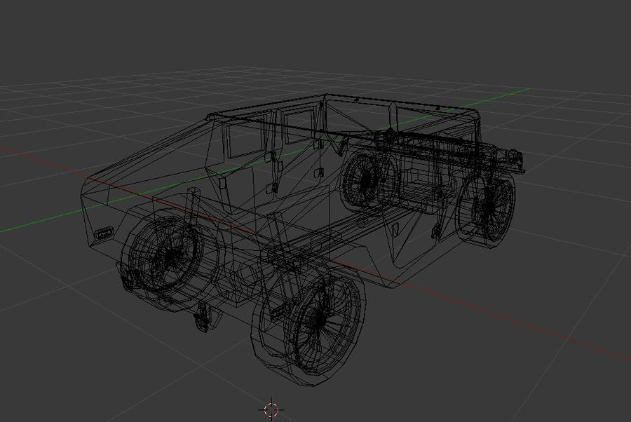 Humvee (Textured) royalty-free 3d model - Preview no. 6